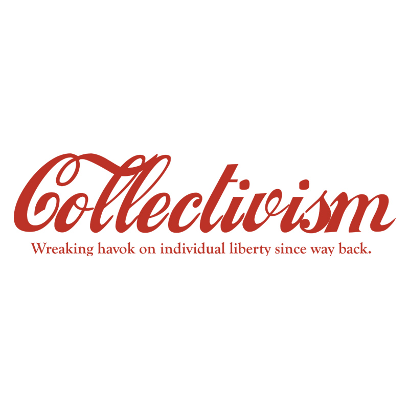 Collectivism Red Ink on White Background