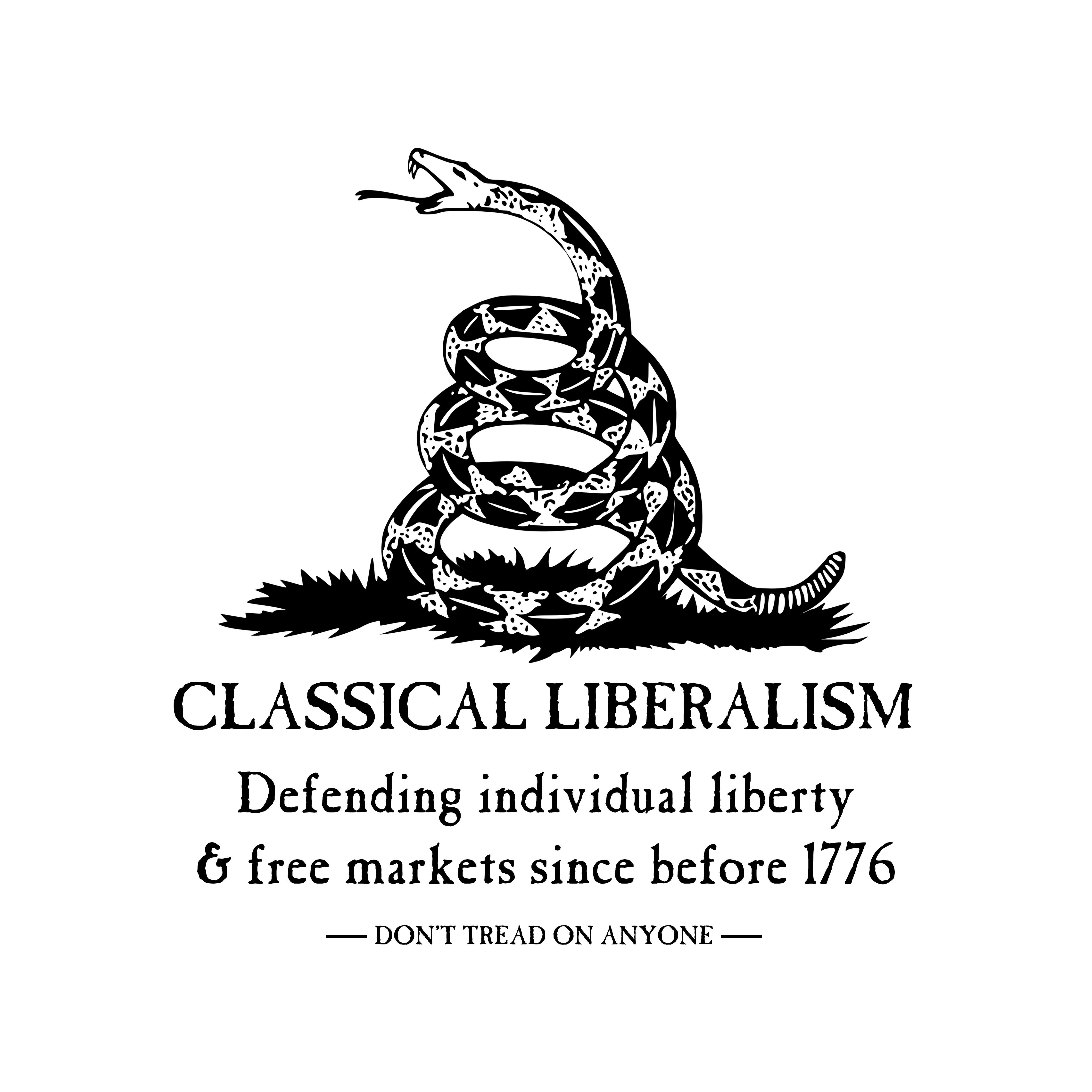 classical liberalism dont tread on anyone libertarian tshirt