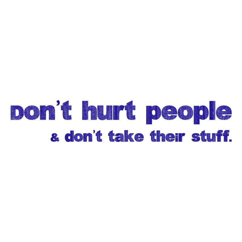 Don't hurt people Logo