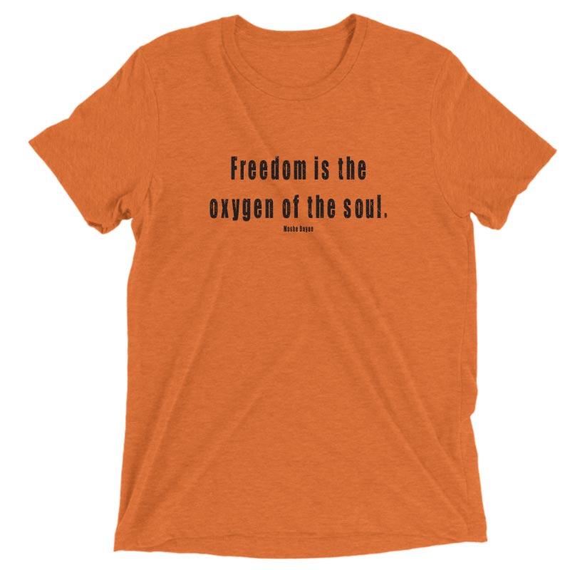 FREEDOM IS THE OXYGEN OF THE SOUL – GRUNGE MENS ORANGE VINTAGE