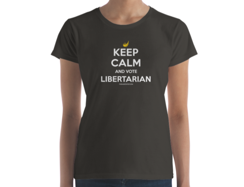 KEEP CALM AND CARRY and VOTE LIBERTARIAN – Womens Ringspun