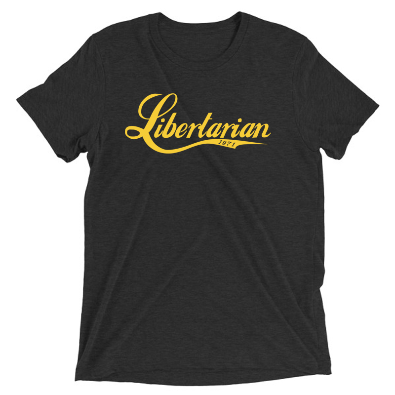 Libertarian1971 Men's Vintage Charcoal Black