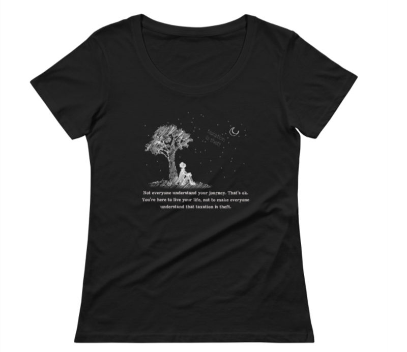 NOT EVERYONE WILL UNDERSTAND YOUR JOURNEY – White Ink Black Scoopneck
